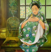 Nguyen Hoang Trang , Talking with the Bird - ArtOfHanoi.com