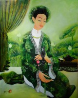 Nguyen Hoang Trang , Lady in Traditional Dress - ArtOfHanoi.com