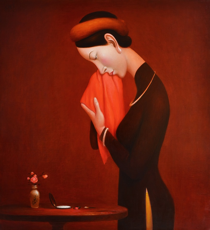 Nguyen Khac Chinh, After a Working Day - ArtOfHanoi.com